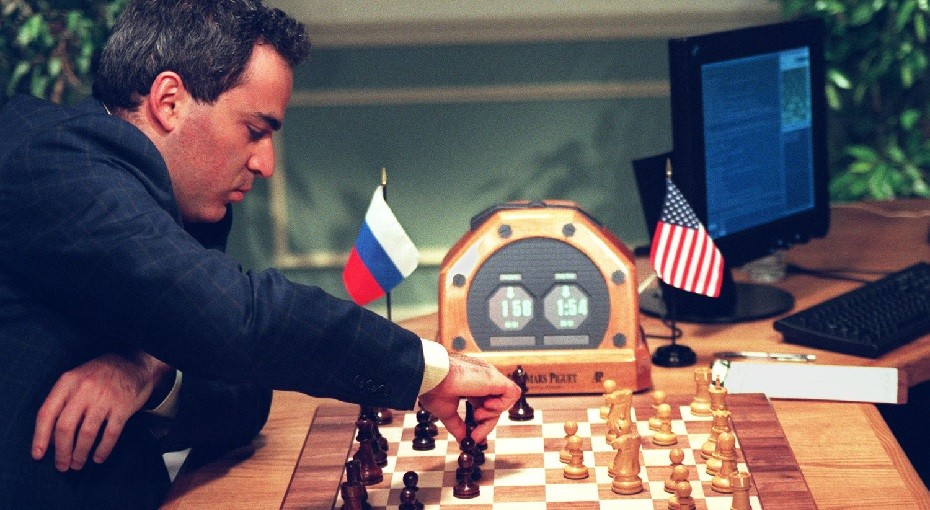 A Deep Blue és a világbajnok Kaszparov meccse 1997-ben.