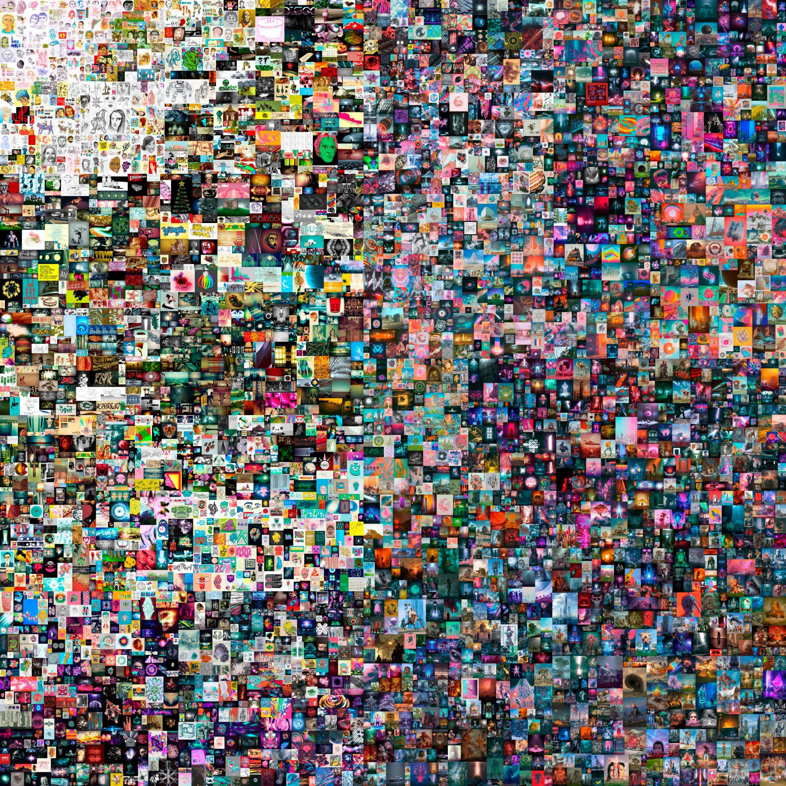 Az 5000 első nap című Beeple digitális kép, ami 69 millió dollárért kelt el